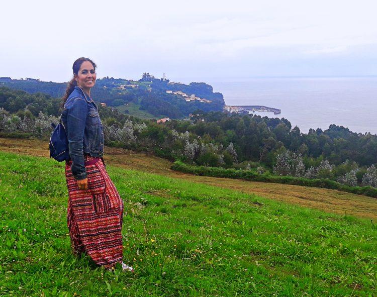Como viajar con una foto en tiempos de coronavirus, yo en Asturias verano 2018
